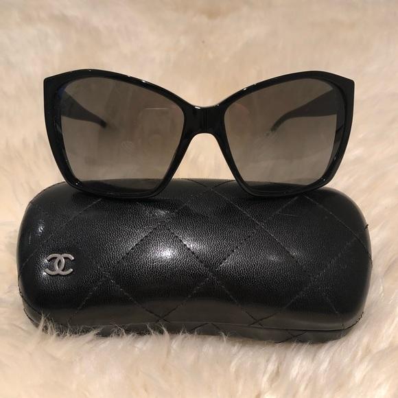 57cbea0c182 CHANEL Accessories - Black Chanel 5203 Glitter Sunglasses